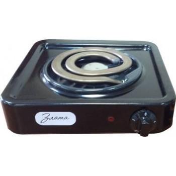 Электроплитка Злата-114Т чёрная 1-но конфорочная (спиральный широкий ТЭН) 1.0 кВт, 145 мм