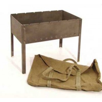 Мангал сборный Амет 1с726 480х290х160мм (сталь 1.4мм, брезентовый чехол с ручками, без шампуров)