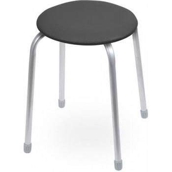Табурет Ника Классика ТК02 (чёрный) на 4-х опорах, сиденье круглое 320мм, фанера, винилискожа