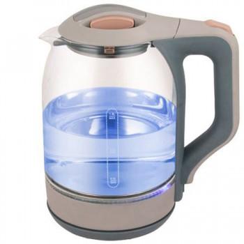 Ampix AMP-1905 чайник электрический дисковый, 1.8л, 1500Вт, стеклянный