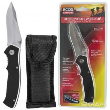 Нож складной туристический EX-135 ECOS G10 черный (325135)