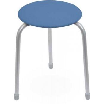 Табурет Ника Классика ТК01 (голубой) на 3-х опорах, сиденье круглое 310мм, фанера, винилискожа