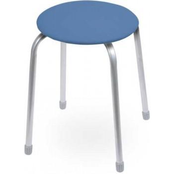 Табурет Ника Классика ТК02 (голубой) на 4-х опорах, сиденье круглое 320мм, фанера, винилискожа