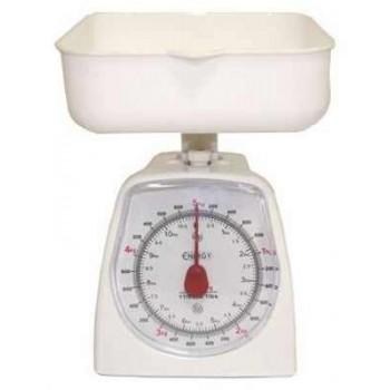 Energy EN-406MK Механические кухонные весы 5кг/1г с чашей, белые