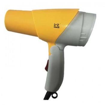 Irit IR 3138 фен дорожный, складная ручка, 750Вт, желтый