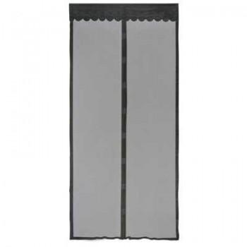 Противомоскитная сетка Капутомоскито KM-N 100х210см, 9 магнитов, черная