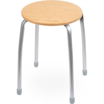 Табурет Ника Комфорт ТКМ1 (светлый дуб) на 4-х опорах, сиденье МДФ круглое 320мм