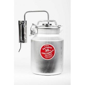Дистиллятор ПЕРВАЧ (Самогонный аппарат) Народный Эконом 10Т 10л, алюминий, проточный, термометр