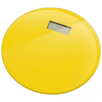 Energy EN-420 RIO (стекло) Электронные напольные весы до 180кг, форма-круг, желтые