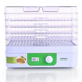 Сушилка для овощей и фруктов Magnit RDH-2421 (электросушилка 5 прозрачных поддонов) 250Вт