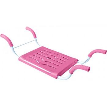 Сиденье в ванну СВ4 (розовый) пластмассовое нераздвижное с металлическим каркасом