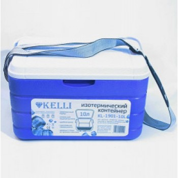 Изотермический пластиковый контейнер Kelli KL-1901-10, 10л, ремень