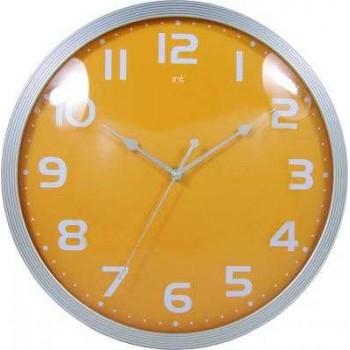 Часы настенные кварцевые Irit IR-620 Желтые диам.32см круглые