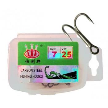 Двойник N 7 (25 шт) в пласт. коробке CARBON STEEL