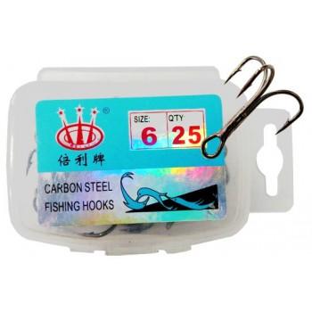 Тройник N 6 (25 шт) в пласт. коробке CARBON STEEL