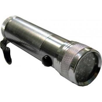 Фонарь ручной (LED-12) светодиодный металлический (85мм)
