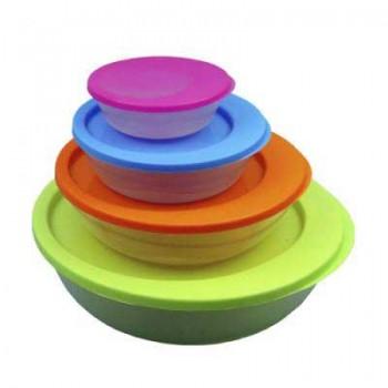 Набор пластиковых контейнеров с крышками Irit IRH-022P (4 предмета)