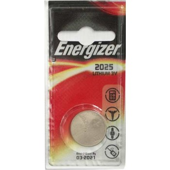 Батарейка Energizer (литиевая) CR2025-BL1/3V (1 шт. в уп.)