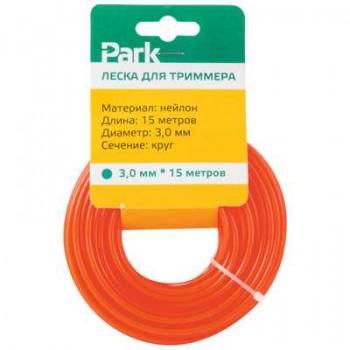 Леска нейлон для триммеров PARK 3.0мм 15м круг (183699)