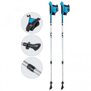 Палки для скандинавской ходьбы Ecos AQD-B020 azure телескопические