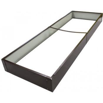 Ограждение для грядок металлическое прямоугольное Country C CPB-180 2000х650х180мм