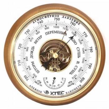 Барометр Утес БТК-СН-8 с термометром (корпус-дерево, диам.210/160мм, откр.механизм)