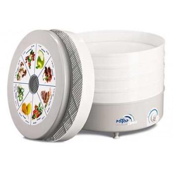 Сушилка для овощей и фруктов Ротор Дива СШ-007-01 (гофра, 3 белых поддона)