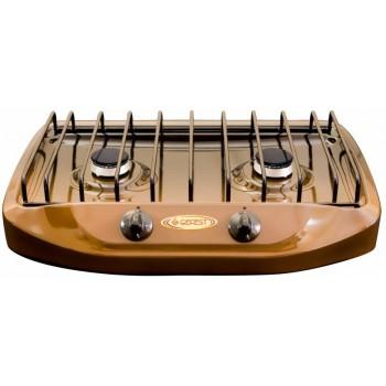 Плита газовая Gefest ПГ 700-02 2-х конфорочная, настольная (коричневая)