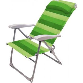 Кресло-шезлонг складное Ника К2 Цвет - Зелёный