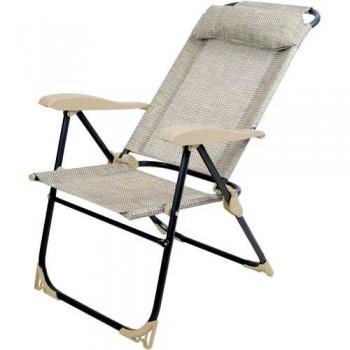 Кресло-шезлонг складное Ника КШ2 Цвет - Ротанг