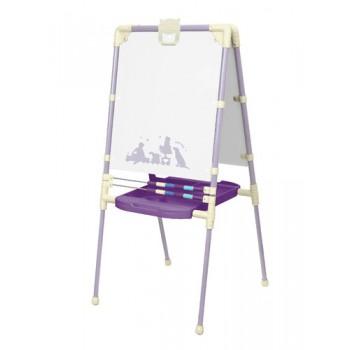 Мольберт детский двусторонний Ника М2Р/3 Растущий Ретро (фиолетовый с сиреневым) с большим пеналом