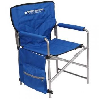 Кресло складное Ника КС1 Цвет - Синий/Строчёный