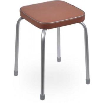 Табурет Ника Фаворит ТФ03 (коричневый) на 4-х опорах, сиденье квадрат 320х320мм, винилискожа