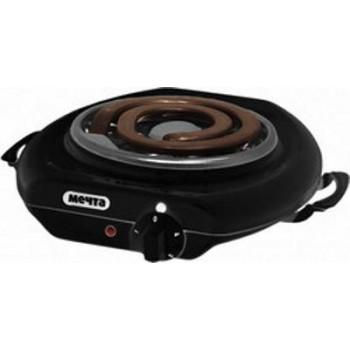 Электроплитка Мечта-112Т чёрная 1-но конфорочная (спиральный широкий ТЭН) 1.0 кВт, 145 мм