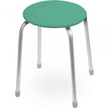 Табурет Ника Классика ТК02 (зеленый) на 4-х опорах, сиденье круглое 320мм, фанера, винилискожа