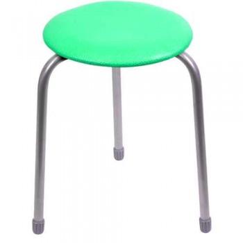 Табурет Ника Классика ТК01 (зеленый) на 3-х опорах, сиденье круглое 310мм, фанера, винилискожа