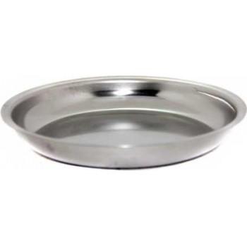 Тарелка из нержавеющей стали Амет Классика 0.25л 1с43 (мелкая, вместимость 0.25л, высота 25мм)