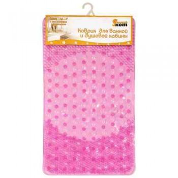 Коврик для ванной BMM-66-P с массажным эффектом, розовый, р-р: 66*39 см (312217)