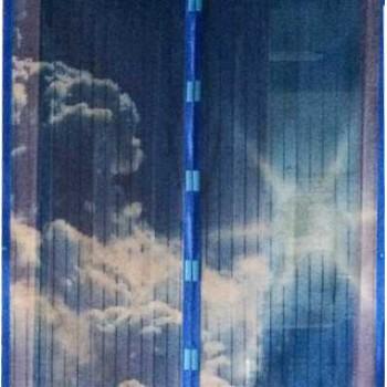 Противомоскитная сетка Irit IRG-603 100х210 см, 12 магнитов, цв. синий , рисунок: облака