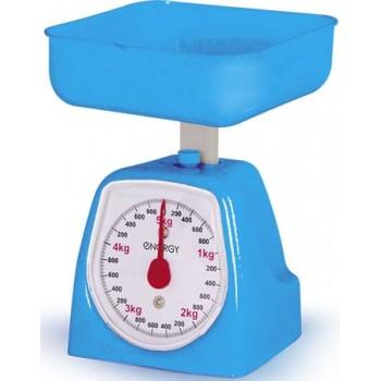 Весы кухонные механические с чашей Energy EN-406MK 5 кг, голубые