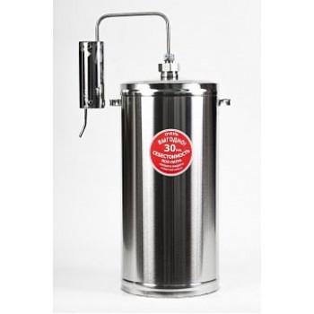 Дистиллятор ПЕРВАЧ (Самогонный аппарат) Эконом 30Т 20л, нержавеющая сталь, проточный, термометр