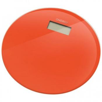 Energy EN-420 RIO (стекло) Электронные напольные весы до 180кг, форма-круг, оранжевые