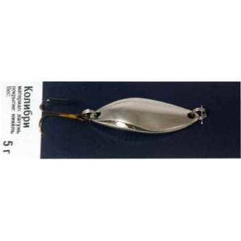 Блесна Колибри вес - 5г, белая (никель)
