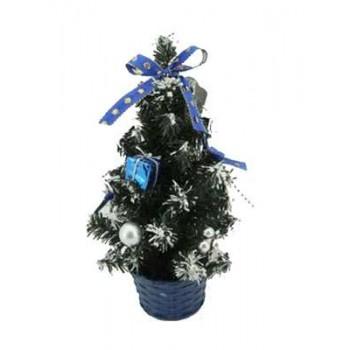 Ель IRIT декоративная ING-005A 20см (синие бантики)