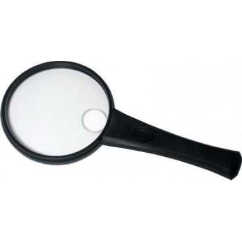 Лупа с подсветкой диаметр 90 мм (2х, 4х) (пластмассовый ободок) (MG2B-4)
