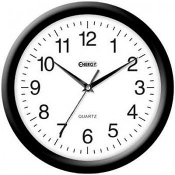 Часы настенные кварцевые Energy EC-02 круглые (27.5*3.8 см) белый циферблат (009302)
