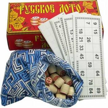 Лото Русское Л-2 (деревянные бочонки, картонная упаковка)