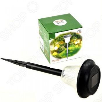 Светильник садовый Irit IRM-301g на солнечной батарее, пластик, 1 LED