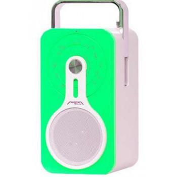 Радиоприёмник Лира РП-260 (зелёный) УКВ/FM-СВ, питание 220В/аккум.Li-ion, USB/SD/MMC