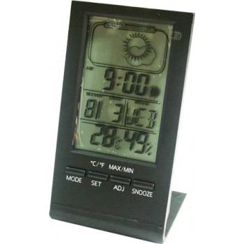 Метеостанция цифровая Стеклоприбор Т-14. Функции: термометр (температура внутри), гигрометр, часы, будильник, календарь
